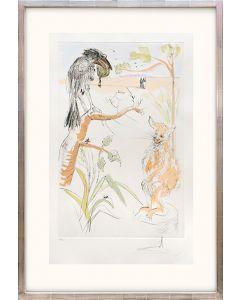 Le cheval s'étant voulu venger du cerf. (The Raven and the Fox.)