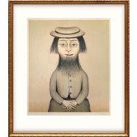 Woman with a Beard. Together with Preliminary Sketch for Woman with a Beard.